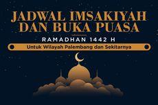 INFOGRAFIK: Jadwal Imsak dan Buka Puasa Palembang Ramadhan 2021