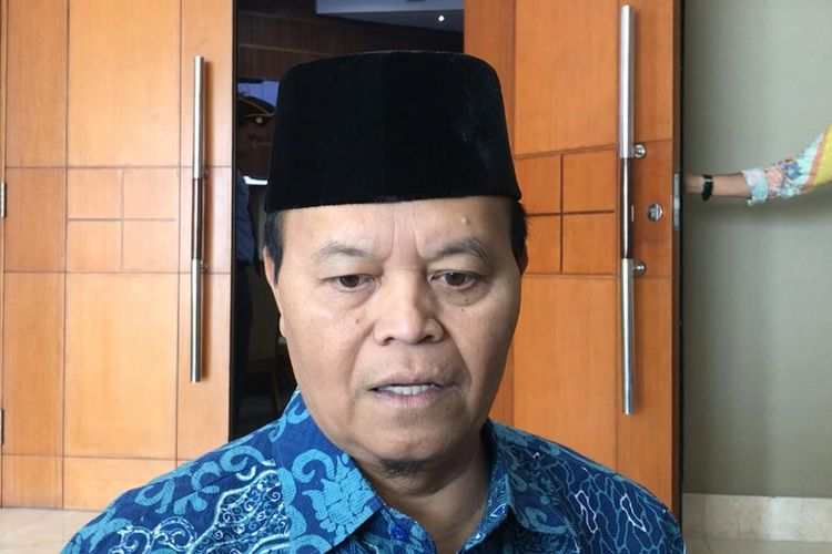 Hidayat Nur Wahid di Kompleks Parlemen, Senayan, Jakarta, Selasa (11/6/2019)