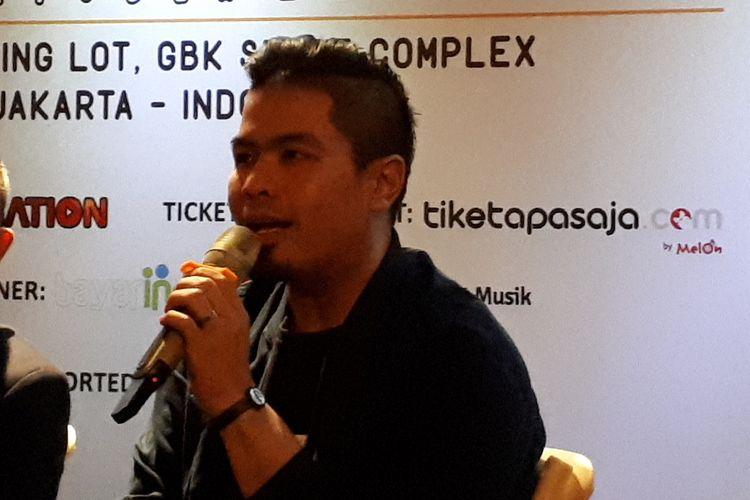 Penyanyi solo Bams saat ditemui di Jakarta, Kamis (8/8/2019).