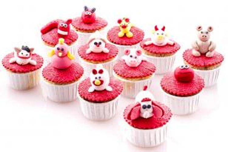 Cupcake bertemakan Imlek dari Hotel Sari Pan Pacific Jakarta