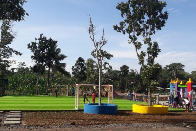 Taman Selahaur di Rangkasbitung, Kabupaten Lebak, Banten, sebelumnya merupakan kawasan kumuh yang disulap jadi RTH cantik.