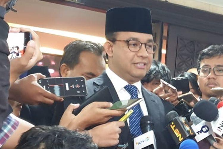 Gubernur DKI Jakarta Anies Baswedan di Gedung DPRD DKI Jakarta, Kamis (22/8/2019)