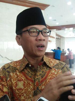 Anggota Komisi II dari Fraksi PAN Yandri Susanto di Kompleks Parlemen, Senayan, Jakarta, Selasa (27/8/2019).