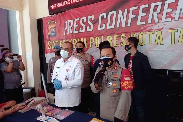 Kapolresta Tangerang Kombes Ade Ary Syam Indardi saat konferensi pers di Mapolresta Tangerang, Rabu (30/9/2020).