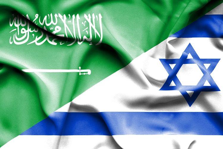 Bendera Arab Saudi dan Israel.