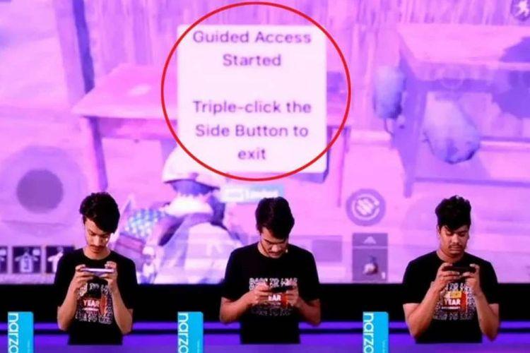 Realme diduga mengguna iPhone untuk menunjukkan performa gaming ponsel miliknya, Narzo 30A.