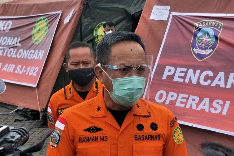 Direktur Operasi Basarnas Brigjen TNI (Mar.) Rasman di JICT II, Tanjung Priok, Jakarta Utara, Kamis (14/1/2021).