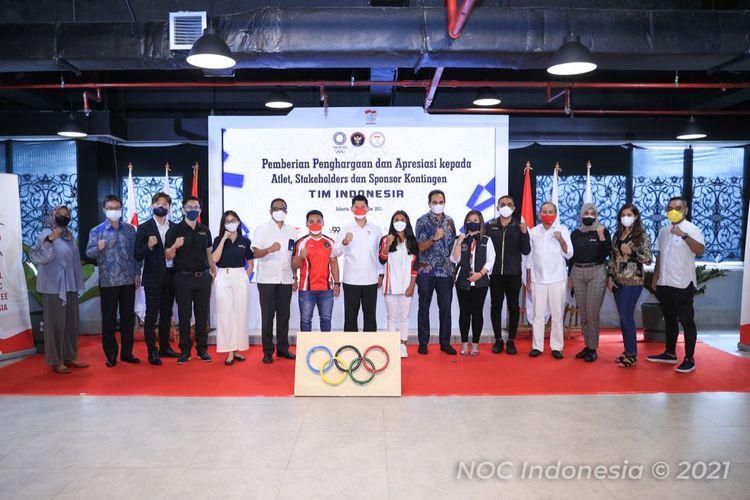 Komite Olimpiade Indonesia (NOC Indonesia) menggelar acara pemberian apresiasi dari sponsor para yang telah mendukung kontingen Indonesia di Olimpide Tokyo.