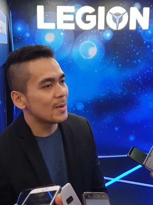 Julius Tjhin, Consumer Lead Lenovo Indonesia di acara peluncuran di Jakarta, Senin (9/9/2019).