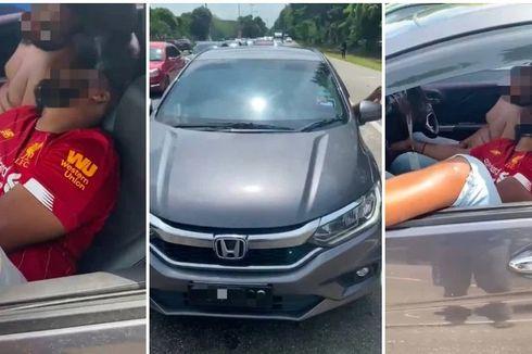 Tertidur di Mobil, 2 Pria Ini Sebabkan Kemacetan Lalu Lintas