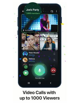 Video call grup di Telegram bisa ditonton hingga 1.000 anggota.