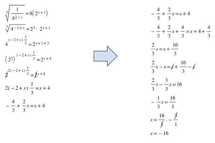Himpunan persamaan eksponen 2