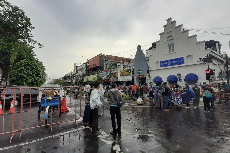 Jalan Malioboro Yogyakarta yang dipadati Wisatawan Sabtu (28/12/2019)