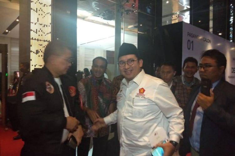 Fadli Zon hadiri debat pertama pilpres