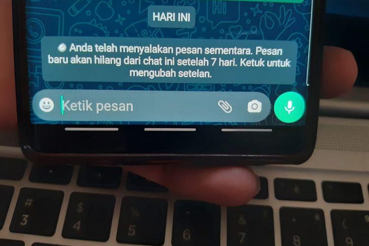 Fitur Pesan Sementara WhatsApp