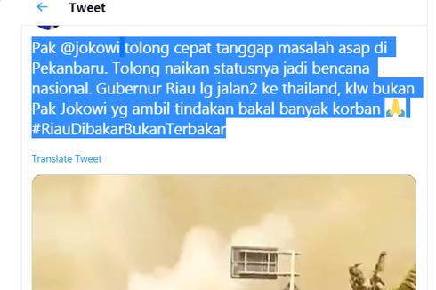 Ramai di Medsos Gubernur Riau Pelesiran ke Thailand Saat Kabut Asap, Ini Penjelasannya...