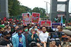 Temui Pedemo, Bupati Bogor Orasi Tolak Omnibus Law: Saya akan Dukung Perjuangan Saudara...