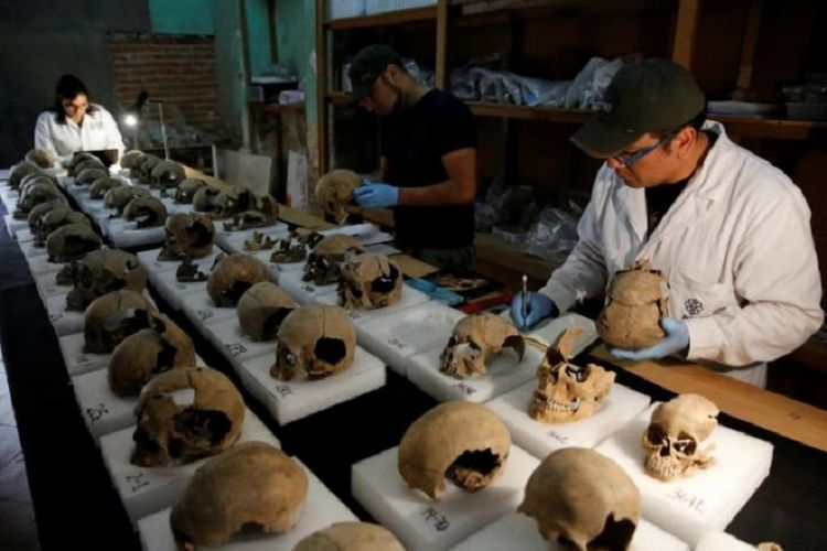 10 Fakta Ritual Tumbal Suku Aztec sampai Jadi Menara Tengkorak Halaman all  - Kompas.com