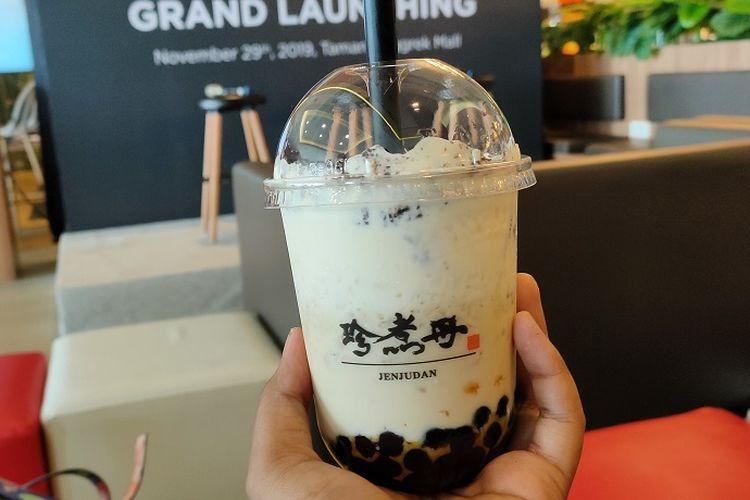 Salah satu menu pilihan minuman boba Truedan, Oreo Brown Sugar Boba Milk, dibandrol dengan harga Rp 42.000.