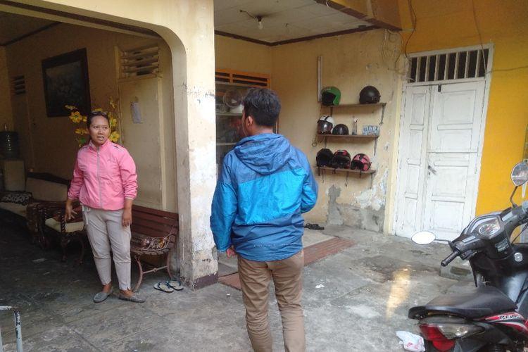 Lokasi rumah Ningrum, korban pencurian motor di Gang Batu Mirah RT04/07,  Kelurahan Menteng Atas, Setiabudi, Jakarta Selatan, Rabu (19/6/2019)