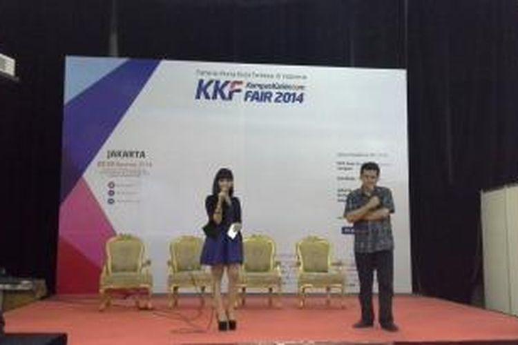 Politisi Poempida Hidayatullah saat menjadi pembicara dalam Kompas Karier Fair 2014, Jumat (22/8/2014).