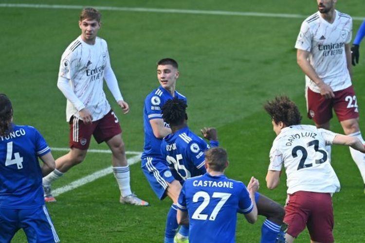 Duel Leicester vs Arsenal pada pekan ke-26 Liga Inggris yang berlangsung di Stadion King Power, Minggu (28/2/2021) malam WIB.