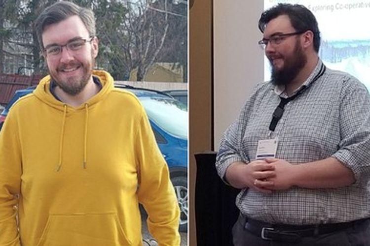 Transformasi berat badan Kyle White.