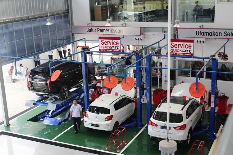 Bengkel Mitsubishi di diler Arista Sukses Mandiri Aceh.