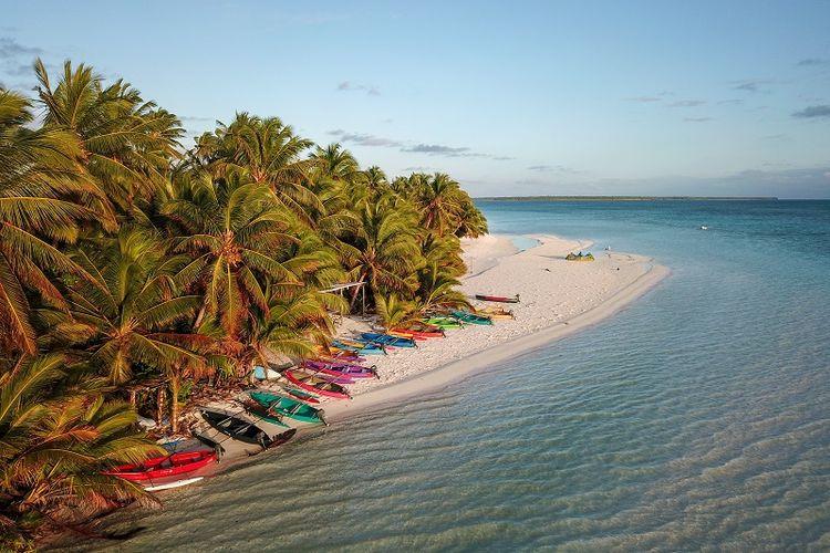 Salah satu sudut Kepulauan Cocos, Australia.