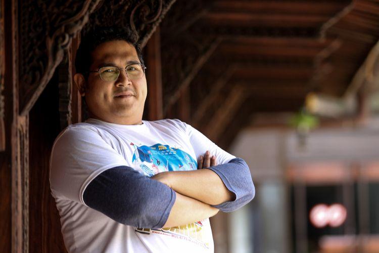 Ery Makmur berpose seusai mempromosikan film Hongkong Kasarung, di Kompas.com, Palmerah, Jakarta, Rabu (7/3/2018).
