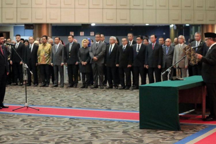 Acara Pelantikan dan Pengambilan Sumpah Pejabat Pimpinan Tinggi Utama di Lingkungan BPPT dilaksanakan pada Rabu (30/1/2019), di Auditorium BPPT, Gedung II BPPT, DKI Jakarta.