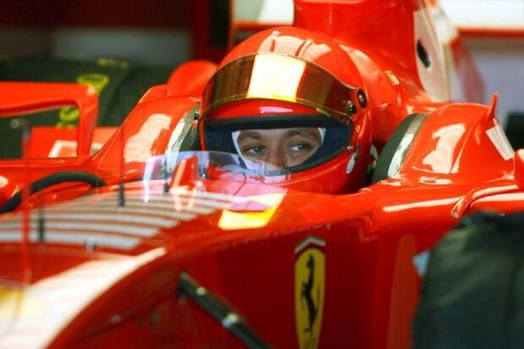 Valentino Rossi saat tes di Valencia 2006