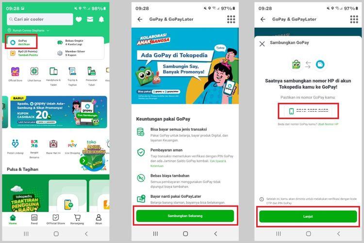 Cara mengaktifkan GoPay dan GoPayLater di aplikasi Tokopedia