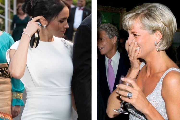 Cincin Aquamarine milik Putri Diana yang kini dipakai Meghan Markle