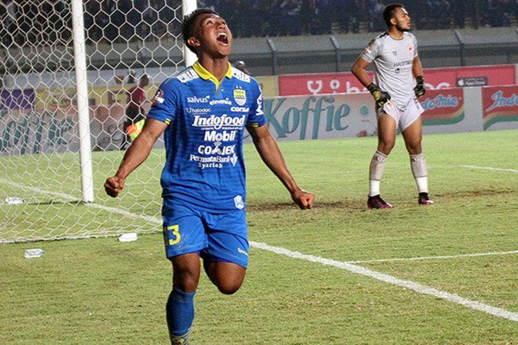 Pemain Persib Bandung, Febri Hariyadi. (KOMPAS.com/SEPTIAN NUGRAHA)