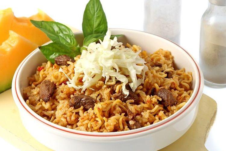 Ilustrasi nasi goreng krengsengan.