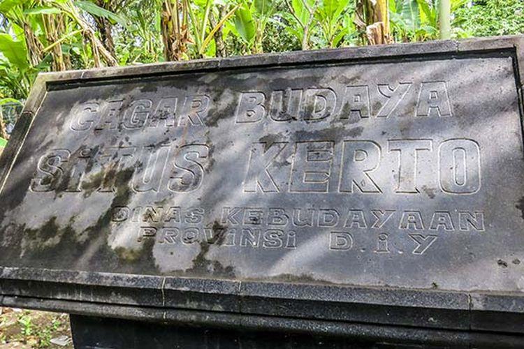 Situs Kerto. Dulunya pernah berdiri keraton megah Mataram Islam di sini.