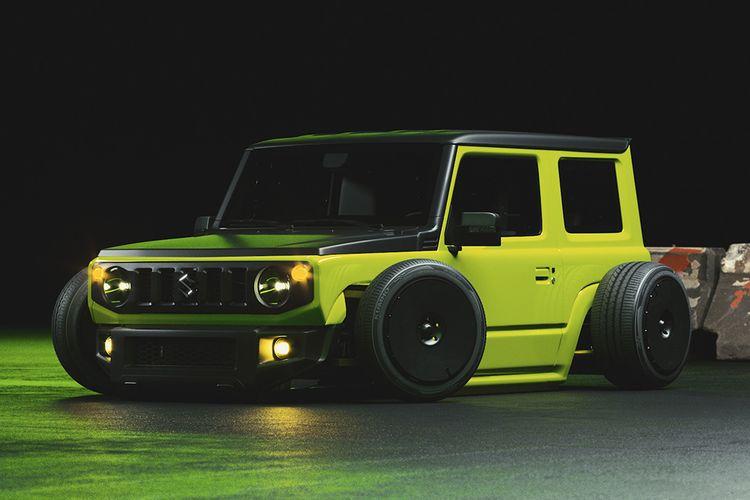 Modifikasi digital Suzuki Jimny Les83Machines