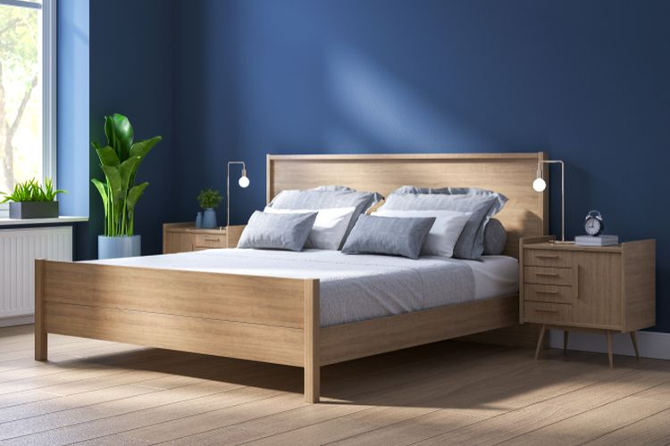 Ilustrasi tempat tidur, tempat tidur minimalis.