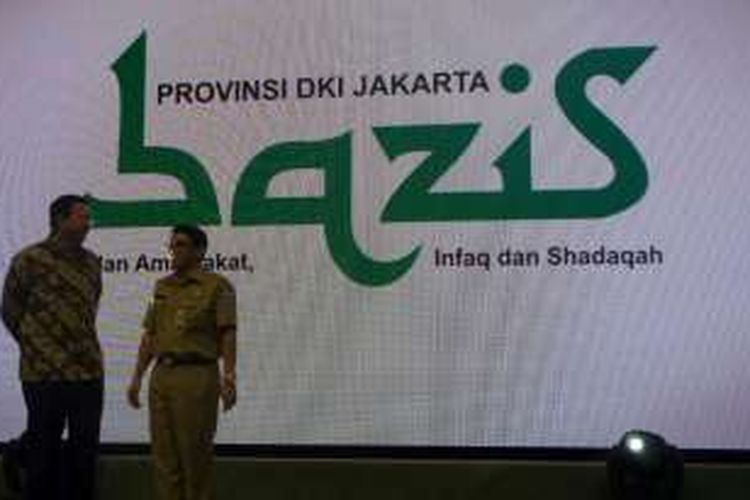 Gubernur DKI Jakarta Basuki Tjahaja Purnama dan Ketua Bazis DKI Zubaidi Adih.