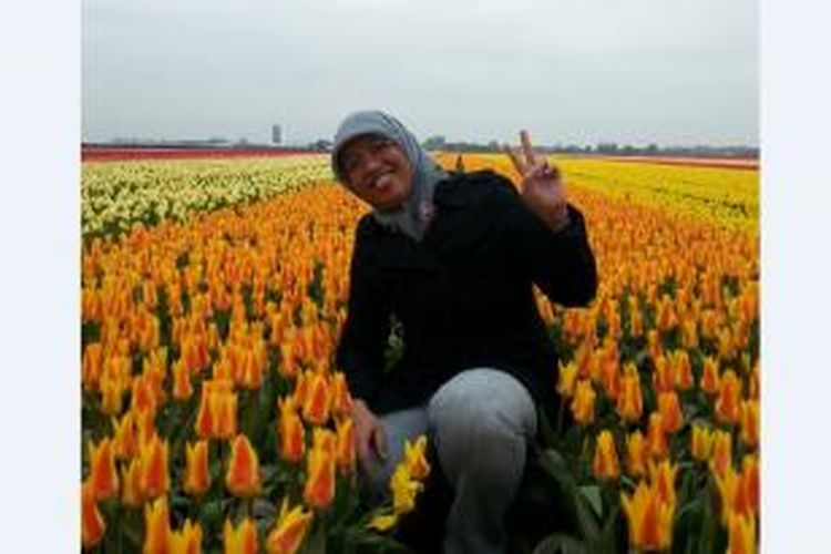 Ike Widyaningrum, mahasiswi program studi master (S-2) di fakultas Organic Agriculture, Wageningen University, Belanda,