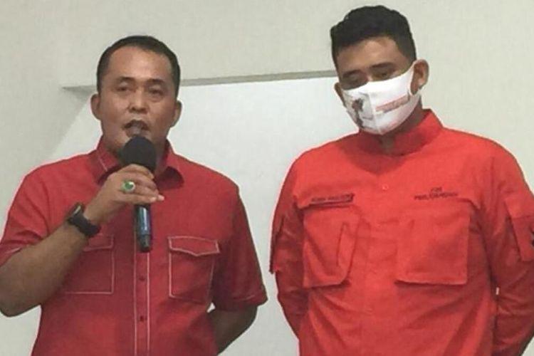 Muhammad Bobby Afif Nasution dan Aulia Rachman menyatakan diri maju sebagai pasangan calon wali kota dan wakil wali kota Medan pada Pilkada serentak 2020 mendatang, Jumat (4/9/2020)