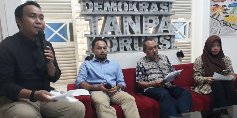 Diskusi yang diselenggarakan Indonesia Corruption Watch (ICW) yang mengangkat tema Pencalonan Pilpres 2019 : Menantang Gagasan Antikorupsi dan Demokrasi, di kantor ICW, Kalibata, Jakarta Selatan, Selasa (6/3/2018).