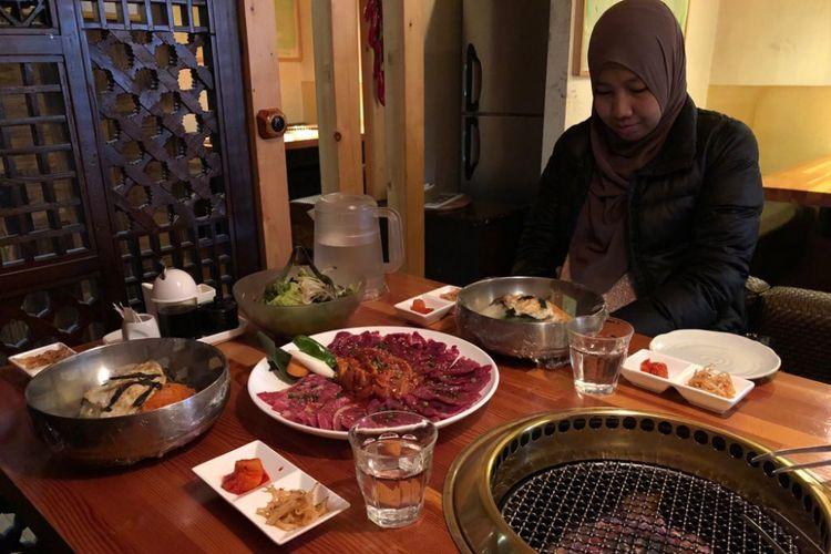 Yakiniku halal di Panga, Taito, Jepang.
