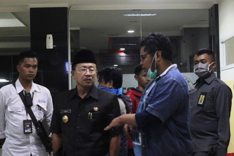Plt Bupati Cianjur Herman Suherman mendatangi Rumah Sakit Dr. Hafiz Cianjur untuk mengecek kabar adanya seorang pasien suspect virus corona yang dirawat di rumah sakit swasta itu.