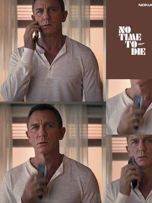 Triller film No Time To Die menunjukkan ponsel Nokia 8.2 5G yang sedang digenggam oleh tokoh dalam film