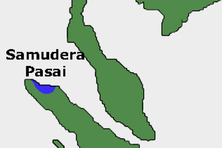 Peta kerajaan Samudera Pasai