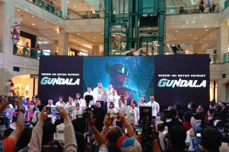 Jagat Sinema Bumilangit mengumumkan tujuh film terbarunya setelah pertama merilis film Gundala yang disutradarai oleh Joko Anwar di Atrium Plaza Senayan, Jakarta Selatan, Minggu (18/9/2019).