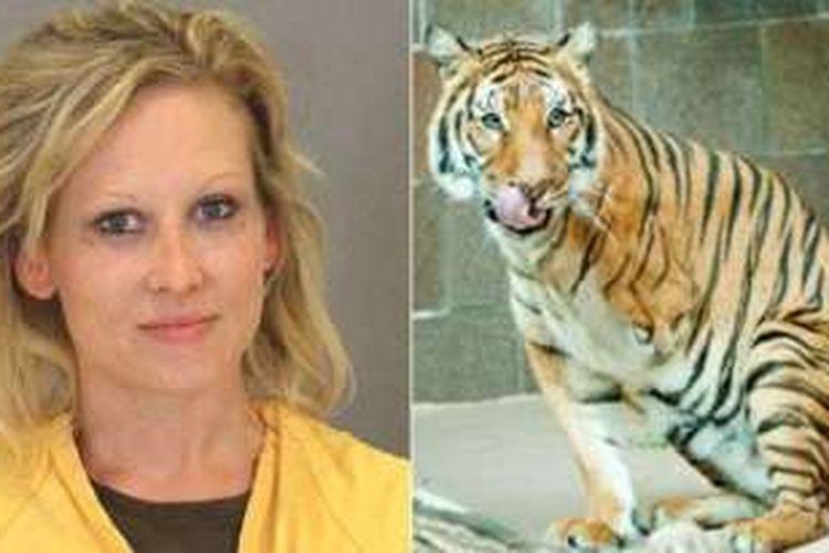 Jacqueline Eide dan Mai, si harimau berkaki tiga.