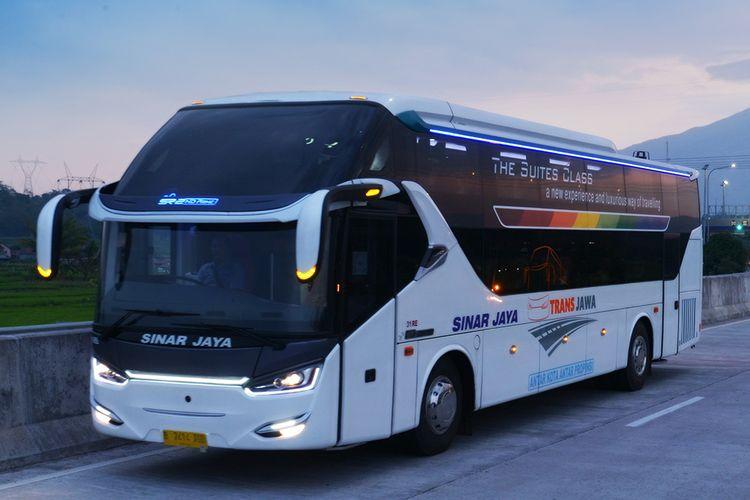 Ilustrasi armada bus PO Sinar Jaya